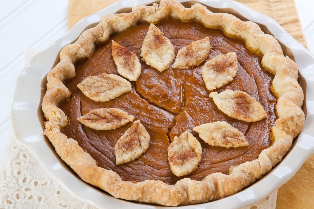 Maple Pumpkin Pie...pretty, but not very tasty